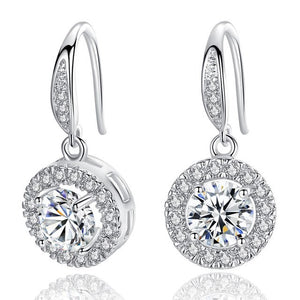 2019 New Wedding Silver/ Gold Color Earrings for Women Super Shiny AAA Cubic Zirconia Fashion Jewelry Ladies Gifts Free Shipping