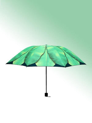 Banana Leaf Pattern Folding Umbrella