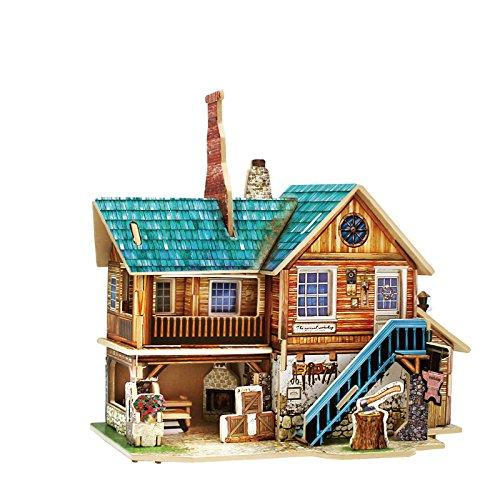 F&S Miniature Wooden Arts and Crafts Store, Creative Model Building DIY Dollhouse Kit or Toys for Adults or Kids