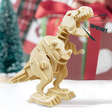 F&S Walking Trex Dinosaur 3D Wooden Craft Kit Puzzle for Kids,Sound Control Robot T-Rex Model Kits for 7 8 9 10 11 12 Year Old Boys