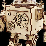 F&S 3D Puzzle Music Box Wooden Craft Kit Robot Machinarium Toy with Light Best Gifts for Women & Men
