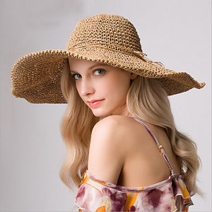 Fashion summer travel seaside vacation sunhat