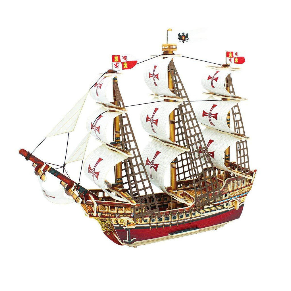 F&S 3D Puzzle Woodcraft DIY Model Ship Santa Maria Wooden Craft Kit Best Birthday Gifts for Boyfriend and Girlfriend