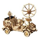 F&S 3D Assemble Puzzle Wooden DIY Solar Power Car Kits - Educational STEM Subjects Great Home-School Curriculum - Unique Solar Power Toy