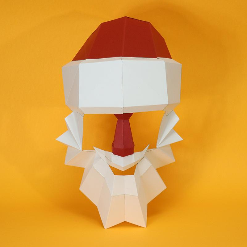 DIY Santa Creative Paper Mask