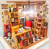 Dollhouse Miniatures DIY Furniture Kit Doll House With Furniture For Gift (Study Room)