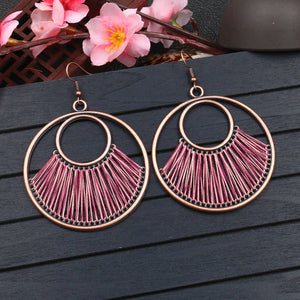 European and American fashion creative circle earrings