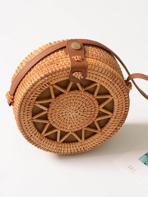 Vintage Rattan Hollow Bag