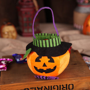 Forsweetheart Halloween Decoration Children's Gift Candy Bag Creative Sugar Bag Three-dimensional Pumpkin Tote Bag Decoration