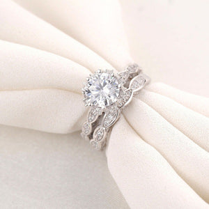 Luxury Clear AAAA Cubic Zircon Ring White Copper with White gold Plated Micro-inlay