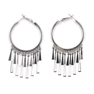 European and American metal tassel long earrings earrings