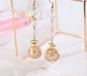 Fashion metal ball temperament personality simple wild ladies earrings