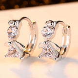 2019 New Fashion AAA Cubic Zirconia Cute Clip Earrings Best Gifts for Women Girl Free Shipping
