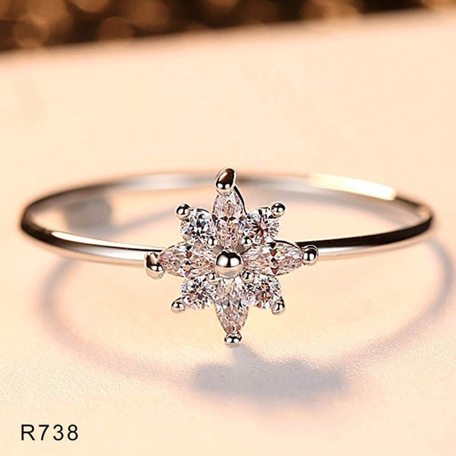 2019 New Fashion Wave Rings for Women Mini Micro Pave AAA Cubic Zirconia Wedding Jewelry Free Shipping