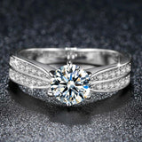 2019 New Arrivals engagement rings for Women Full with super shiny Zircon White Gold Jewelry Valentine's Day Gifts