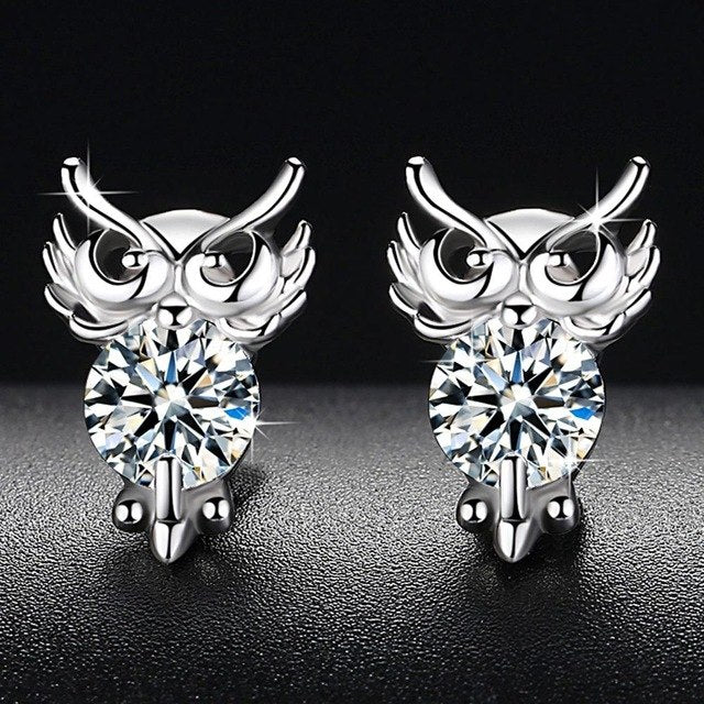 Cute Animal Owl Earrings for Women Siver Color 2018 New Fashion Jewelry Women Accessories Free Shipping