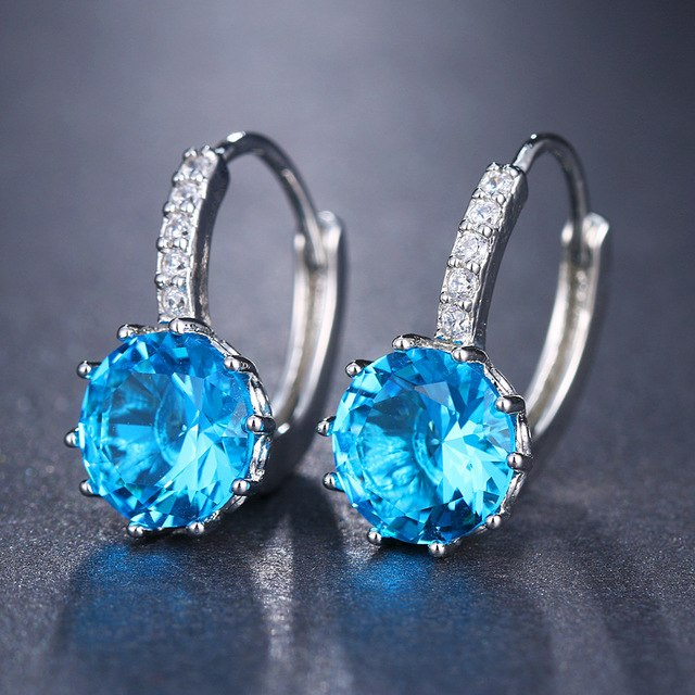 Fashion 10 Colors AAA CZ Element Clip Earrings For Women Wholesale Chea Factory Price Free Shipping