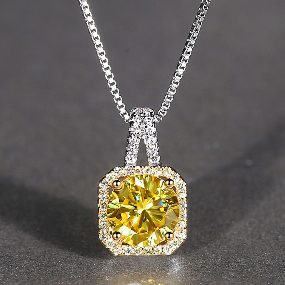 Fashion AAAA+ Zircon Necklaces for Women 2019 Statement Box Chain Wedding/Party Necklace Valentine's Day Gifts