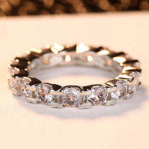 Fashion Austria Crystal Rings Silver Color Finger Ring Wedding Engagement Cubic Zirconia Rings For Women Wholesale New