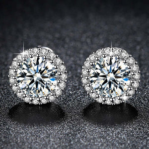 Fashion CZ Dandelion Flower Earrings for Women Silver Bijoux Clear AAA Cubic Zirconia Femme Christmas deals Ladies Gifts