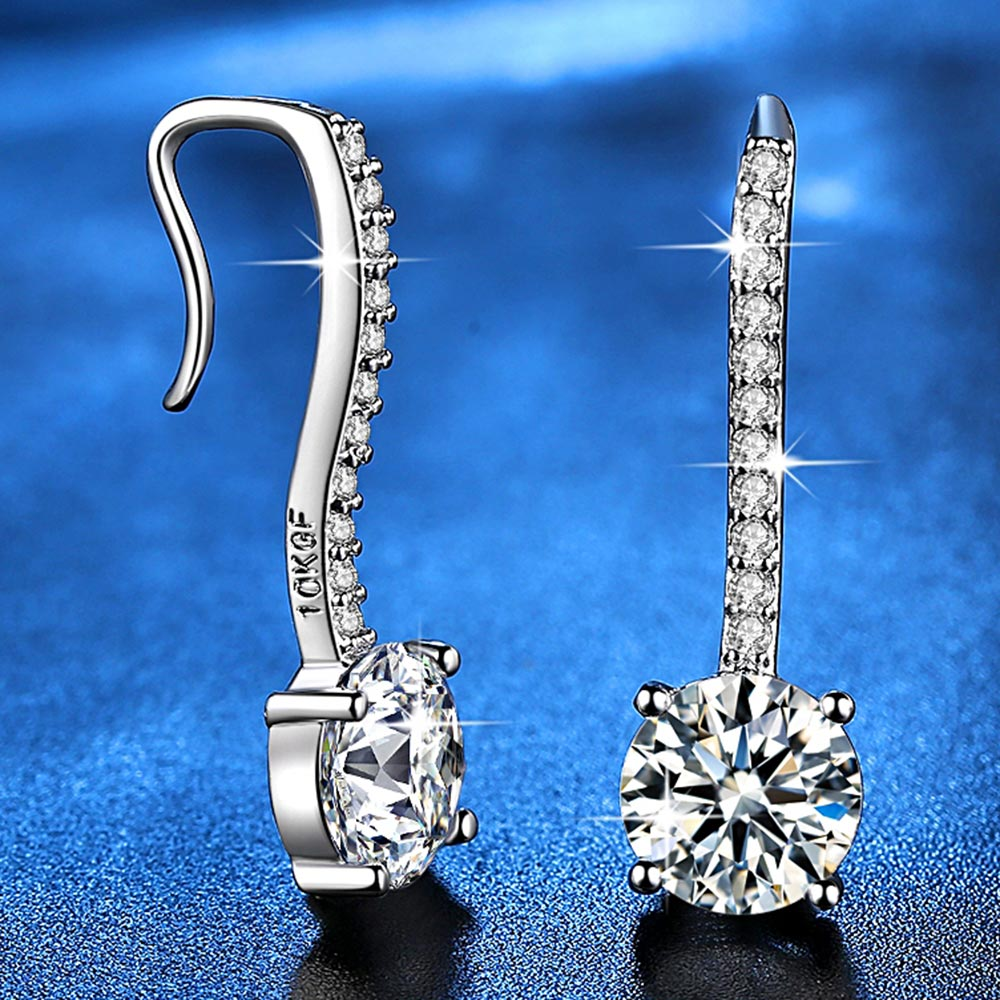 Fashion Jewelry Silver Plated Earrings for Women AAA+ Zircon Jewelry Gifts for Ladies