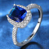 Fashion Korean Ring Filled with Crystal Fine Jewelry with Crystal  Blue Green Champagne anillos Ring