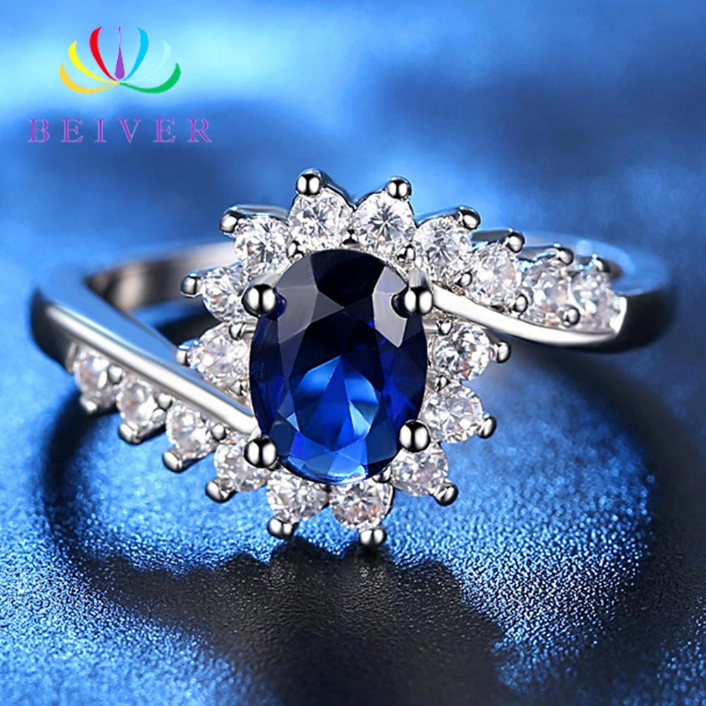 Fashion Oval Micro Pave Princess Cut Cubic Zirconia Jewelry Rings for Women Party Decoration Whole Sale