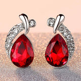 Wedding Jewelry Rhinestone Style Wedding Earrings For Women Earrings 2018 Water Drop Dangle Earrings Free Shipping