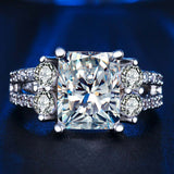 White Gold Color Ring with AAAA CZ Fine vintage Jewelry Rings Women Wedding Ring cubic zirconia rins