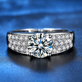 White Gold Color Wedding Rings for Women Micro Pave AAA Zircon Jewelry 2019 New Fashion Valentine's Day Gifts