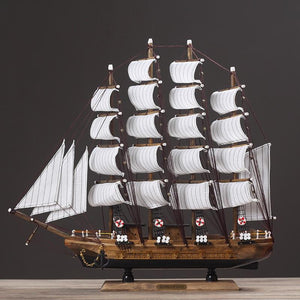 Wooden SailBoat Crafts Model