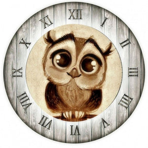 F&S Diamond Painting Store Owl Clock