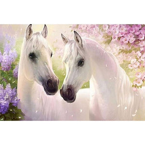 F&S Diamond Painting Store Two White Horses