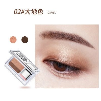Double Color Eye Shadow Makeup Palette Glitter Palette Eyeshadow Pallete Waterproof Glitter Eyeshadow Shimmer Cosmetics