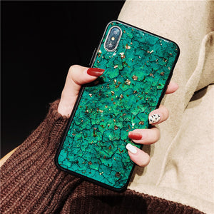 CASE For Samsung S7 edge S8 S9 S10 Plus Note 8 9 case Fashion Epoxy Green Purple Red Rhinestone stand Hair Ball soft phonecase