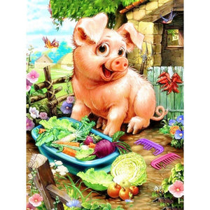 F&S Diamond Painting Store Pig And Vegetables