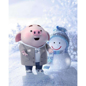 F&S Diamond Painting Store Pig And Snowman