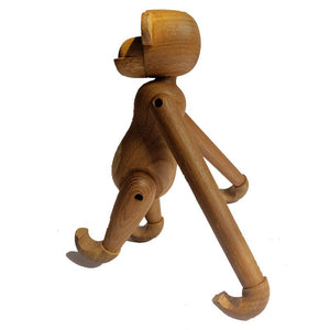 Nordic Denmark Craft Arts Monkey Solid Teak Wood Joint Figurines