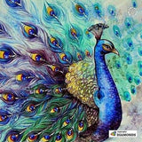 F&S Diamond Painting Kit Azure Peacock