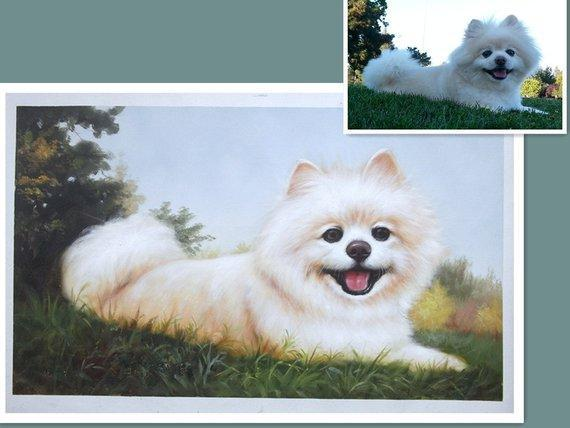 Personalized Oil Painting From Photos, handcraft art on Canvas-Show Case STG101845-12