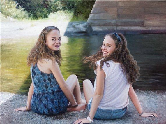 Personalized Oil Painting From Photos, handcraft art on Canvas-Show Case RJN101415-20