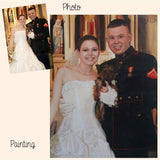 Personalized Oil Painting From Photos, handcraft art on Canvas-Show Case ONK102582-24