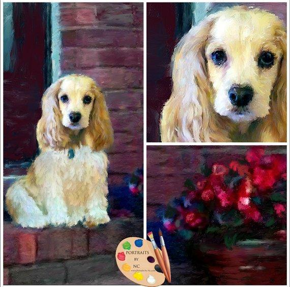 Personalized Oil Painting From Photos, handcraft art on Canvas-Show Case ETG100456-48