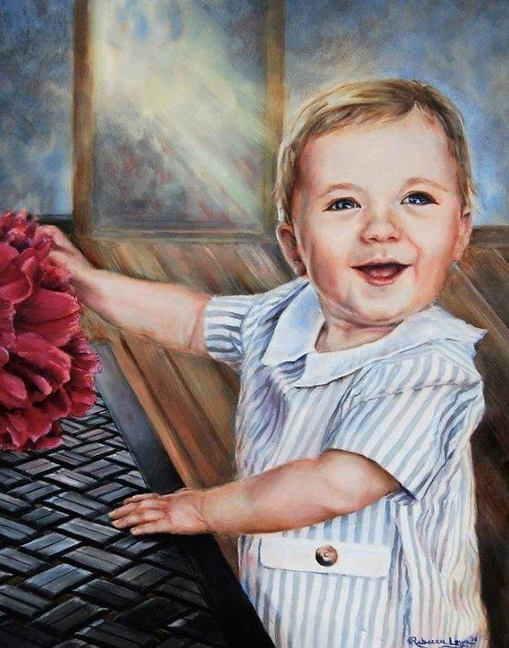 Personalized Oil Painting From Photos, handcraft art on Canvas-Show Case BPA101767-20