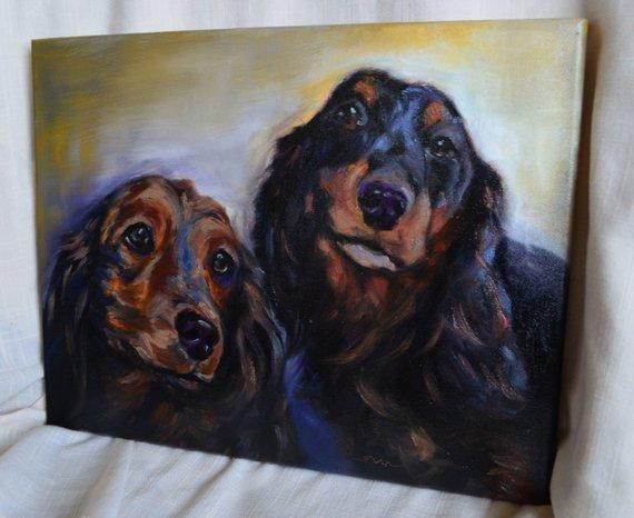 Personalized Oil Painting From Photos, handcraft art on Canvas-Show Case KCJ101650-24