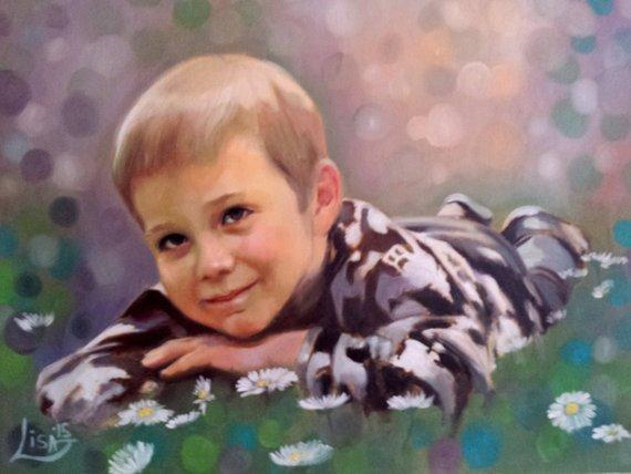Personalized Oil Painting From Photos, handcraft art on Canvas-Show Case IKN101438-36