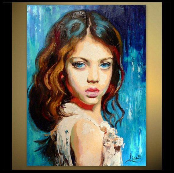 Personalized Oil Painting From Photos, handcraft art on Canvas-Show Case NED102429-36