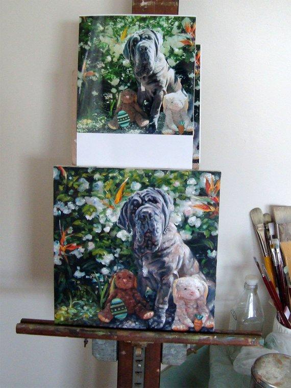 Personalized Oil Painting From Photos, handcraft art on Canvas-Show Case ATO101745-24