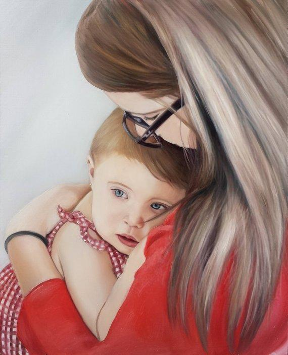 Personalized Oil Painting From Photos, handcraft art on Canvas-Show Case PNA101283-48