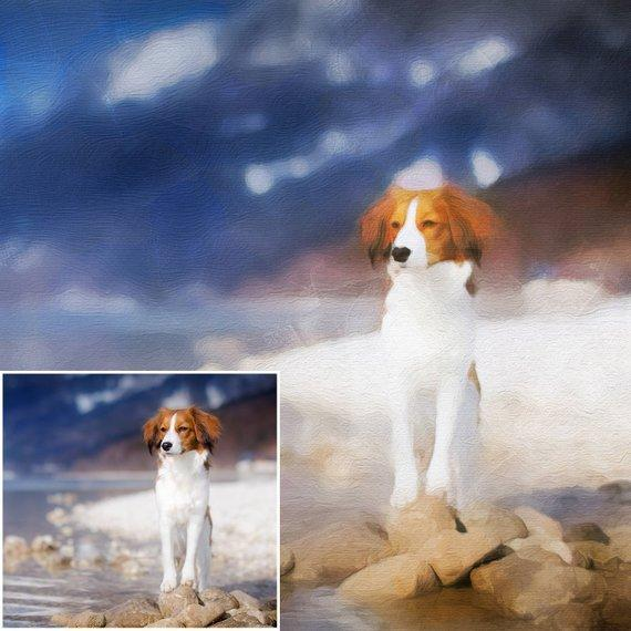 Personalized Oil Painting From Photos, handcraft art on Canvas-Show Case RPC101089-24